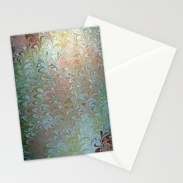 Soft Seaweed Water Marbling Stationery Cards