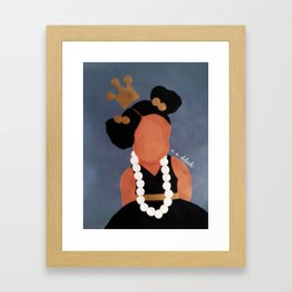 """""""Playing with Mommy's Pearls"""" Framed Art Print"""