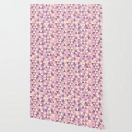 Pastel Pink Geometric Art Wallpaper