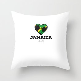 Jamaica Soccer Shirt 2016 Throw Pillow