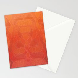 Round and About Coral Stationery Cards