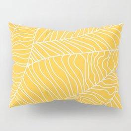 TROPICAL LEAVES - yellow palette Pillow Sham