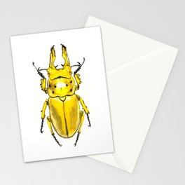 Yellow Japanese Stag Beetle Stationery Cards