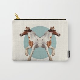 Double Animals: Horses Carry-All Pouch