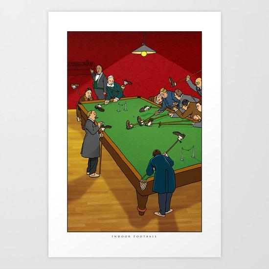 """W. Heath Robinson's """"Indoor Football"""" Art Print"""