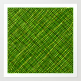 Royal ornament of their green threads and yellow intersecting fibers. Art Print
