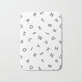 The Missing Letter Alphabet W&B Bath Mat