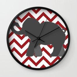 Roll Tide Elephant Crimson Tide Alabama Wall Clock