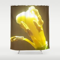 alone Shower Curtains featuring ALONE by m e l a n i a e m m a