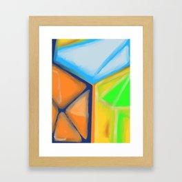 Stairwell Corner Framed Art Print