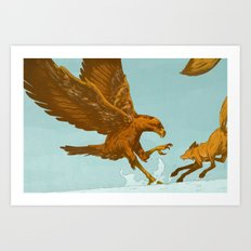 Golden Eagle, Red Fox Art Print