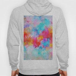 Cloudy Abstract Painting- Colorful Art Hoody