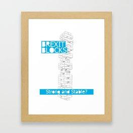 strong.&.stable Framed Art Print