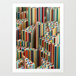Stretched Pattern Art Print