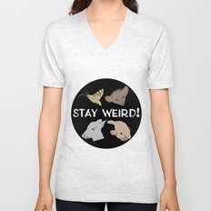 Stay Weird! Unisex V-Neck