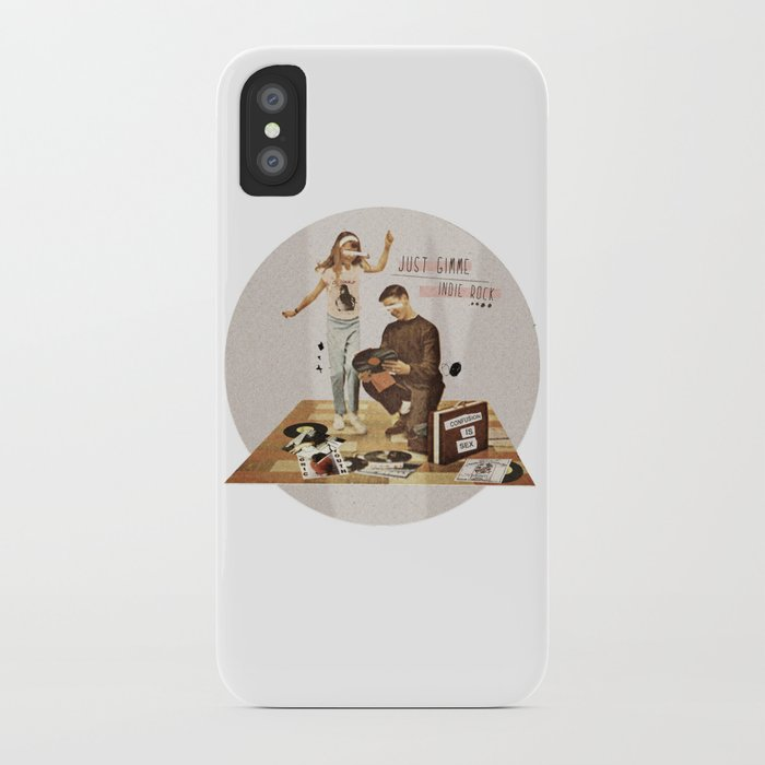 Just Gimme Indie Rock   Collage iPhone Case
