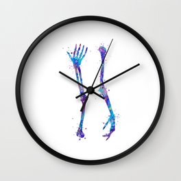 Arm Bones Anatomy Art Humerus Radius Ulna Thenar Medical Office Gift Chiropractor Art Bones Art Wall Clock