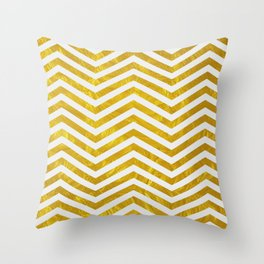 Golden obsession Throw Pillow