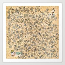 sleeping beau Art Print