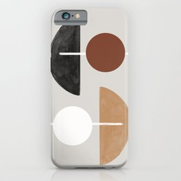 Moon and Sun Abstract iPhone Case