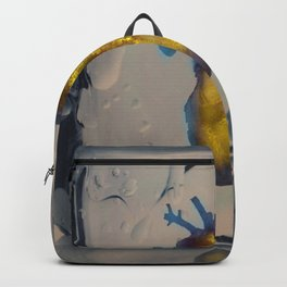 Heart of Gold encased in ice Backpack
