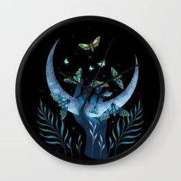 Moth Hand Wall Clock