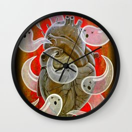 """A HEART FULL OF GHOSTS"" Wall Clock"