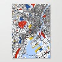 mondrian Canvas Prints featuring Tokyo Mondrian by Mondrian Maps