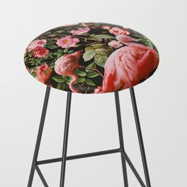 Floral and Flemingo Pattern Bar Stool