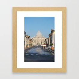 St. Peter's in the Early Morning Framed Art Print