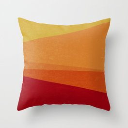 Stripe X Orange Peel Throw Pillow
