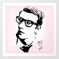 ysl Art Prints featuring YSL loves you by cvrcak