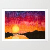 Strands of Sunset Art Print
