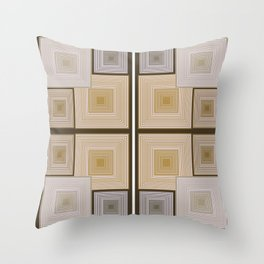 Squares Repeated Throw Pillow