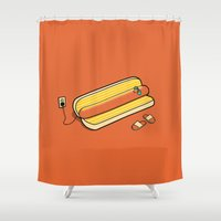 cooking Shower Curtains featuring Cooking Up A Tan by David Soames