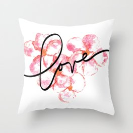 """Plumeria Love - A Romantic way to say, """"I Love You"""" Throw Pillow"""