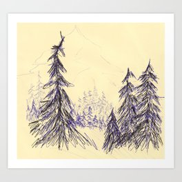 Ink Forest Art Print