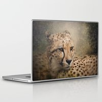 cheetah Laptop & iPad Skins featuring Cheetah  by Pauline Fowler ( Polly470 )