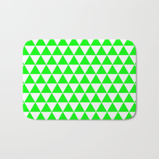 Triangles (Green/White) Bath Mat