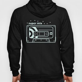 Black and White Mix Cassette Hoody