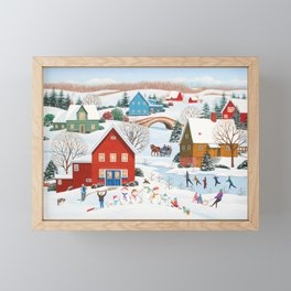 Snow Family Framed Mini Art Print