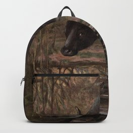 Vintage Water Buffalo Painting (1909) Backpack
