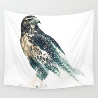 falcon Wall Tapestries featuring Falcon by RIZA PEKER