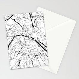 Paris Minimal Map Stationery Cards