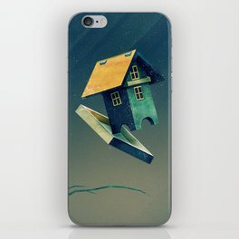 Flying Bird...house iPhone Skin