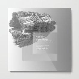 Genetic Algorithms Metal Print