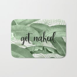 Get Naked Green Botanical Palm Leaf Tropical Jungle Bath Mat