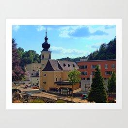 The village church of Helfenberg II | architectural photography Art Print