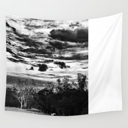 clouds at play in a small country town Wall Tapestry