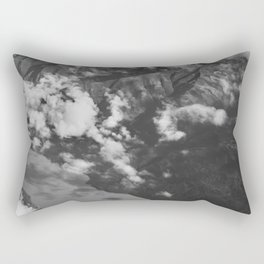 Aerial Alaska - B & W Rectangular Pillow